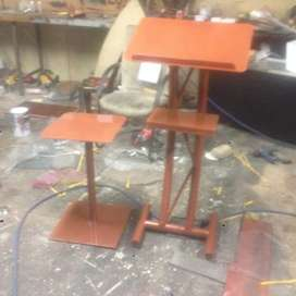 Steel Podium And Side Table combo