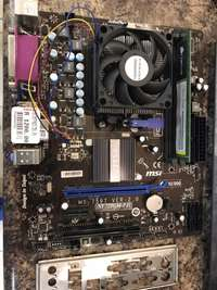 Image of Msi am3 motherboard combo athlon2 3ghz,4gb memory ddr3