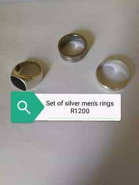 Set of men's rings