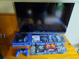 PS 4 with TV and headset for sale