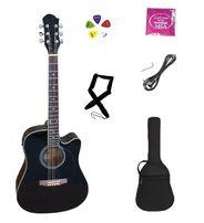 Gitara elektro-akustyczna + pokrowiec i akcesoria