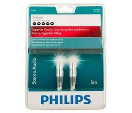2RCA -2RCA Philips Stereo Audio cable 5 METERS