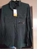 Koszula z haftem zieleń khaki H&M rozm.34