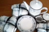 Image of You want to host tea parties with this stunning Noritake Blue Hill set