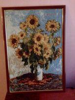 Картина из гобелена Подсолнухи