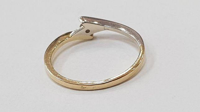Apart! Przepiękny pierścionek + brylant 0.04 CT/ 585/ 1.39g/ R10 Gdynia - image 5