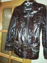 Продам кожаную куртку женскую б/у (Турция)
