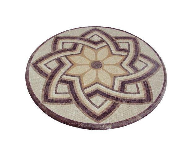 Мраморная мозаичная столешница Д=1,2м