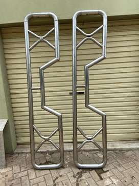 Stainless steel land cruiser single cab railings