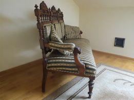 Sprzedam komplet sofę + fotel eklektyk antyk oryginał po renowacji