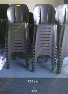 Back plastic chairs