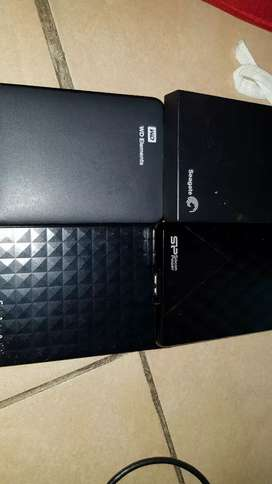 External 2.0 & 3.0 Hard drives