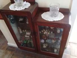 Cherry wood show cabinet 4 sale