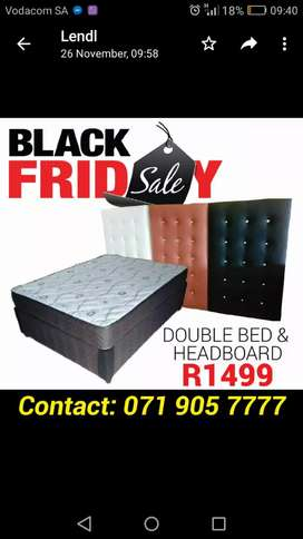 Double bed and double headboard for R 1499