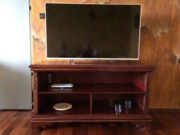 Komoda pod telewizor z litego drewna tropikalnego