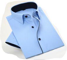 рубашка 40 ворот с коротким рукавом