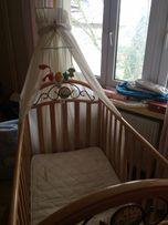 łóżeczko niemowlęce dla dziecka włoskiej firmy Pali piękne lite drewno