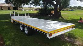 Double axle flatbed trailer 3500kg