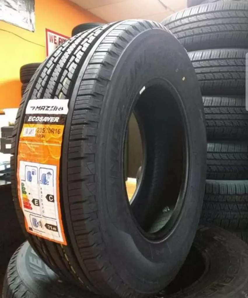 235/70/16 Mazzini tyre's is made in China and 0