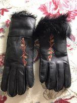 Рукавиці,перчатки кожа