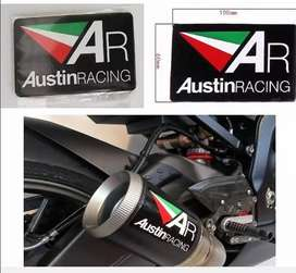 Austin Racing heat resistant exhaust silencer badges plates