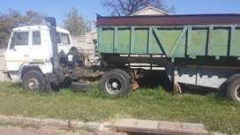 Horse single axle with end tipper trailer