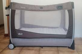 Chicco lullaby fold up camp cot with accecorise