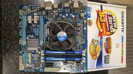 Motherboard, Processor and RAM for sale