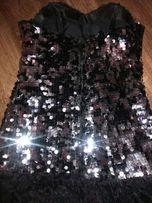 Sukienka Hiszpanka czarno-srebrna