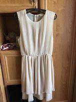 Plisowana sukienka ZARA H&M 36 34 xs x plisy elegancka wesel warstwowa