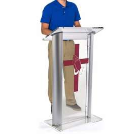 Contemporary Silver Pulpit For Church Opening Sale