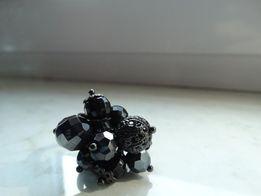 Pierścionek czarny S