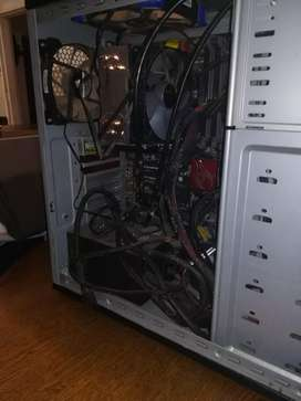 Computer case with left over equipment