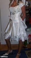 sukienka kolor ecri rozmiar 36 , jak nowa