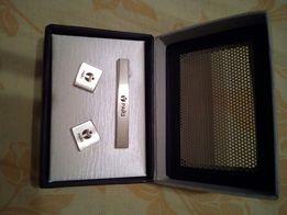 Новый подарочный набор запанки и клипса для галстука