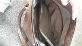 Genuine leather diaper bag like new