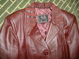 Кожаное пальто, плащ (куртка, курточка)