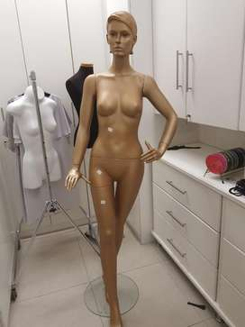 Gold mannequin, with stand