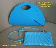 Сумка, женская сумка, голубая, синяя, + В ПОДАРОК вторая сумка!