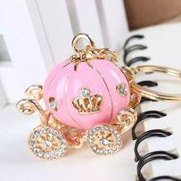 Breloczek kareta księżniczka różowy