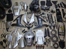 Разборка Yamaha R1 02 на запчасти: фара,пластик, мотор, колеса, вилка