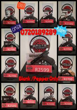 Blank and Pepper Weapons for Sale