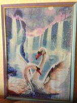 "Картина ""Лебеди"", алмазная вышивка"