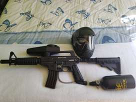 Upgraded Tippmann Bravo one paintball gun with extras