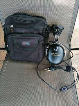 Stratomaster Bargain:  Aviation Headset and headset bag, fuel strainer