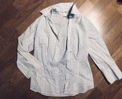 Biała koszula krata H&M ,S