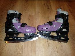 Łyżwy hokejowe regulowane 33-36