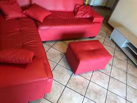 L Couch Plus TV stand