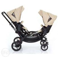 коляска для двойни оливковая Zoom
