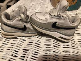 Air max nike skórzane buty sportowe dla malucha